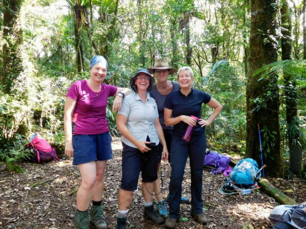 Lunchtime on the Stinson Wreck Hike with Women's Fitness Adventures