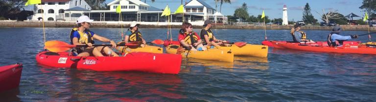 Kayaking at Cleveland Point