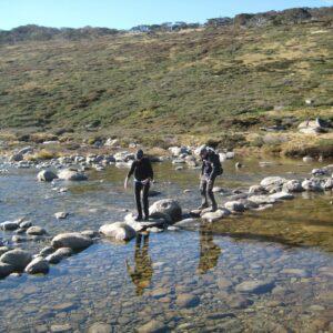 The Thredbo River on the Mt Kosciuszko Summit Trek with Women's Fitness Adventures