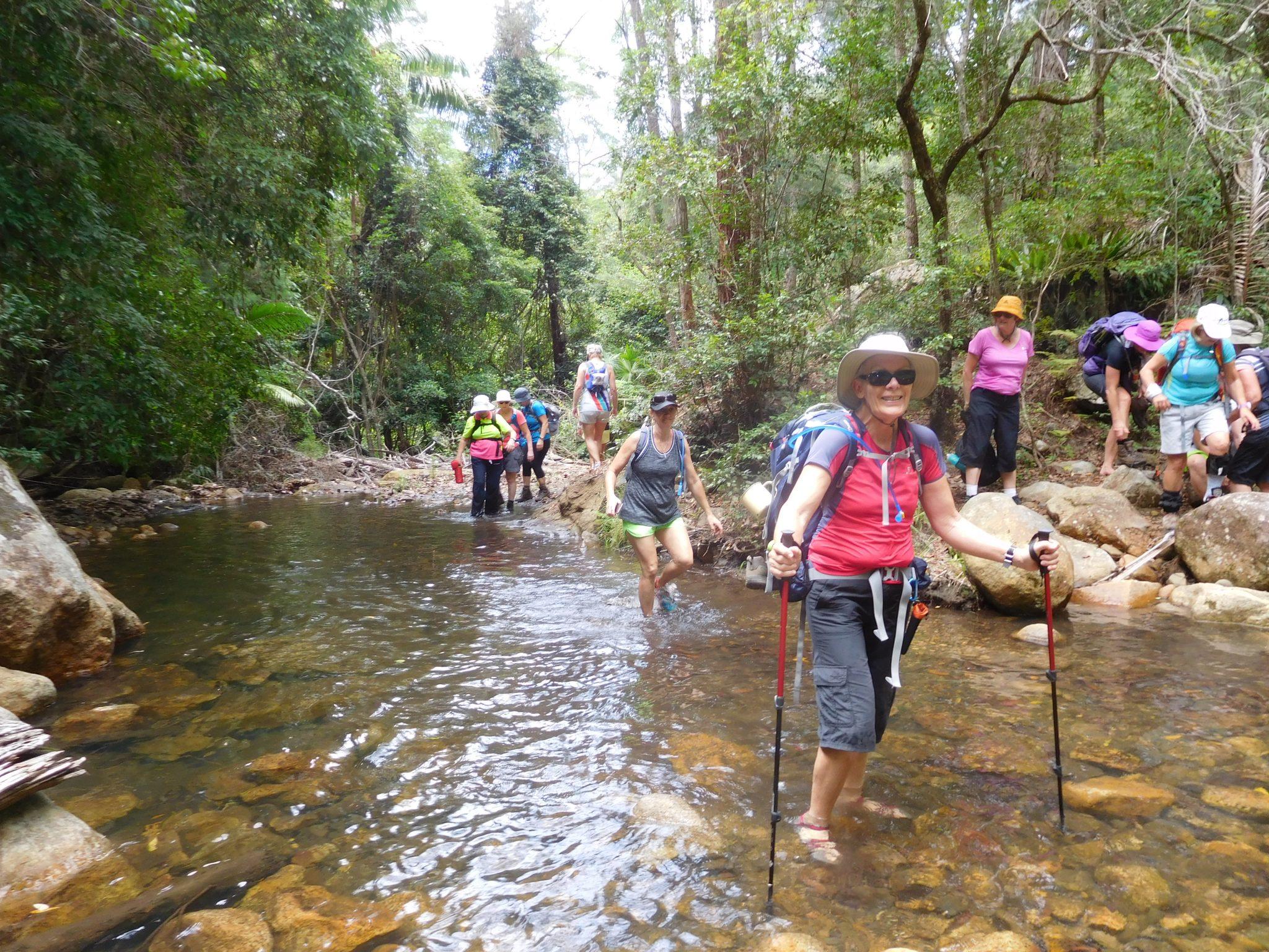 Always happy hikers with Women's Fitness Adventures