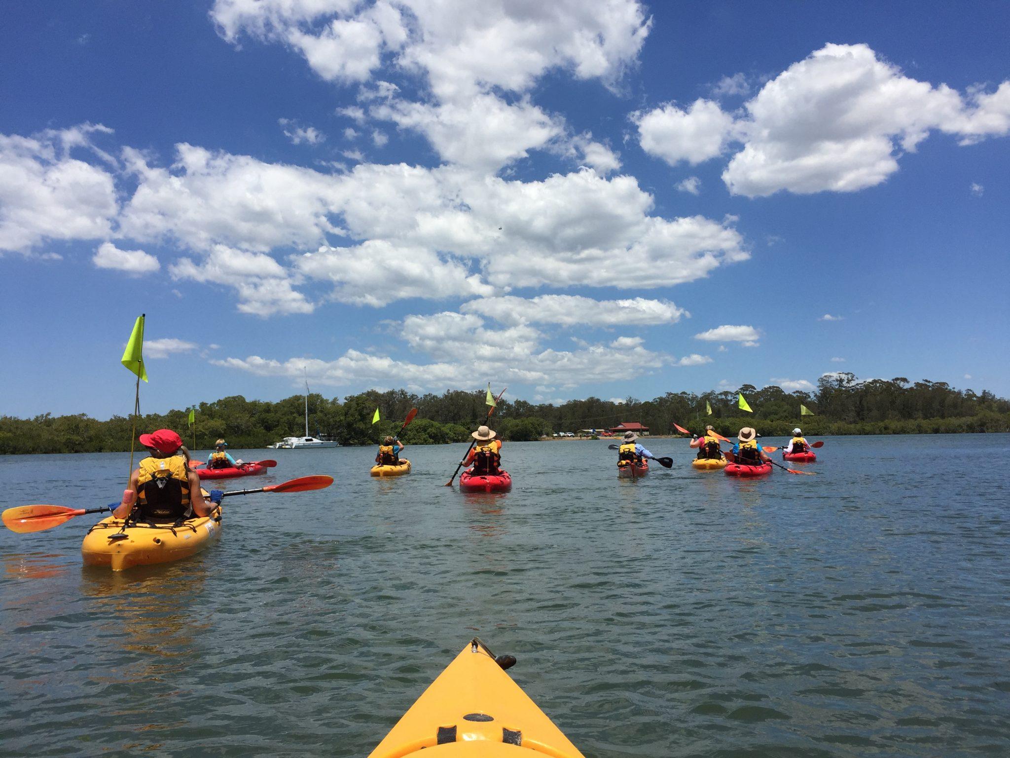 Kayaking with Women's Fitness Adventures