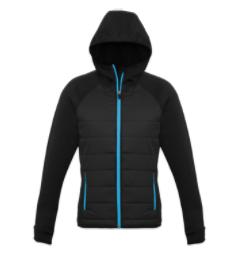 Women's Fitness Adventures Ladies Stealth Hooded Jacket - Puffer - CYAN