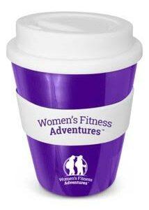 Reusable Women's Fitness Adventures Coffee cup