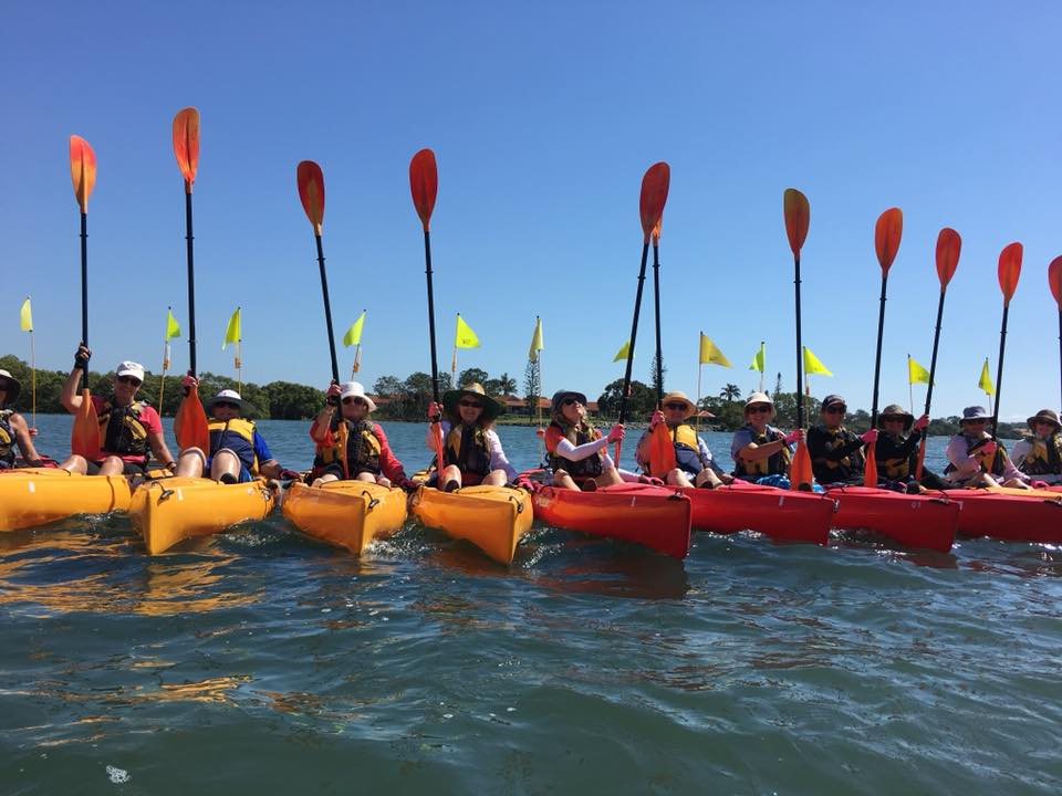 The Women's Fitness Adventures C.R.E.W on one of our Introductory Kayaking Adventures