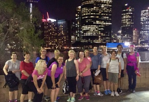 The Women's Fitness Adventures C.R.E.W on our Friday Night City Lights Walk - super social and the perfect way to end the week.
