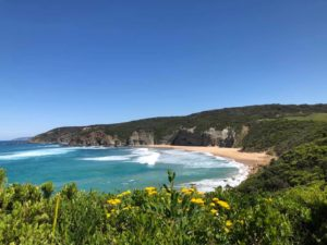 Sunny weather on the Great Ocean Road Hike with Women's Fitness Adventures
