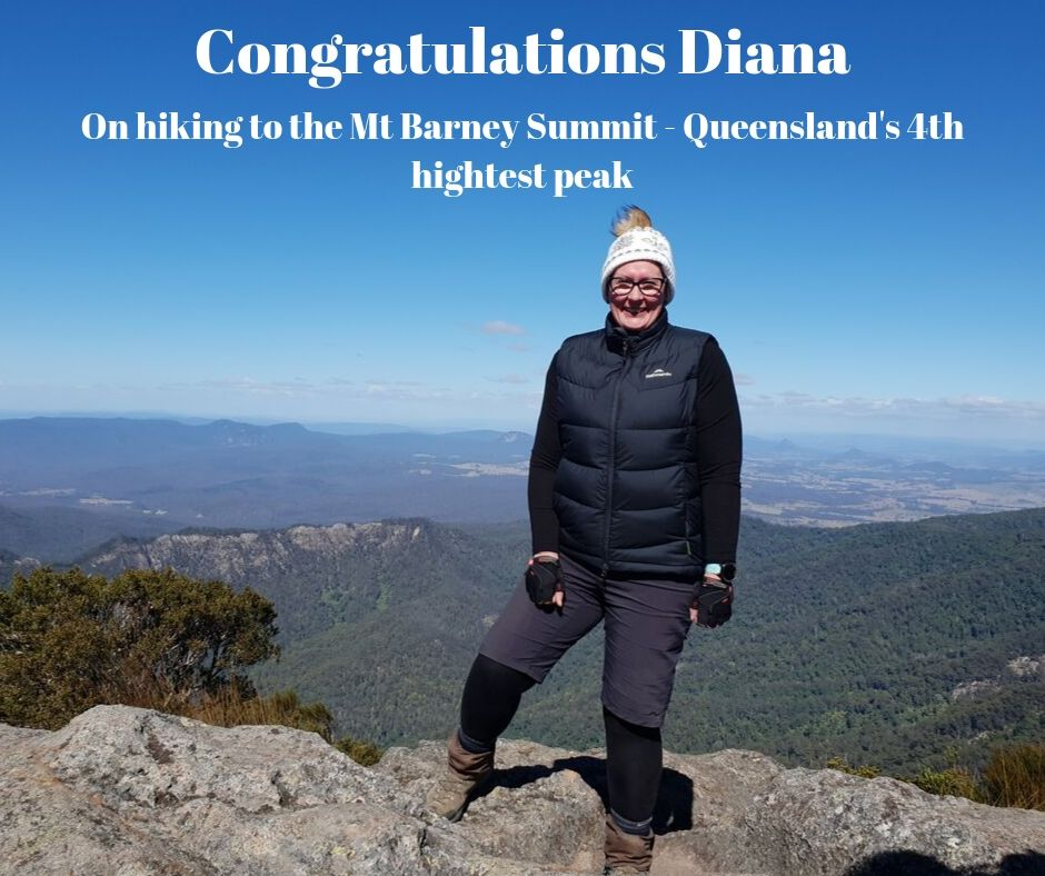 Diana at Mt Barney Summit