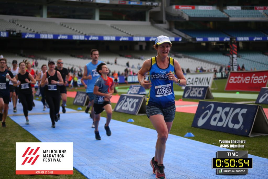 10k Melb finish 2019 Yvonne Shepherd