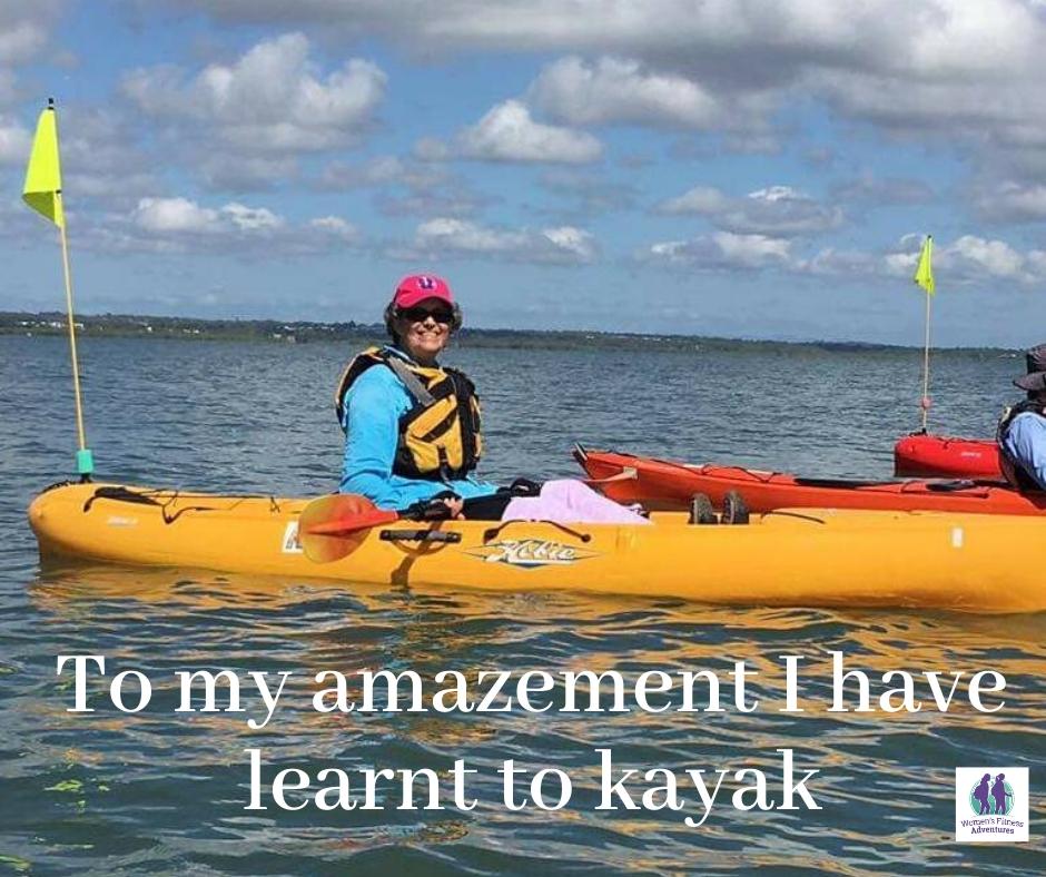 Sharon at kayaking