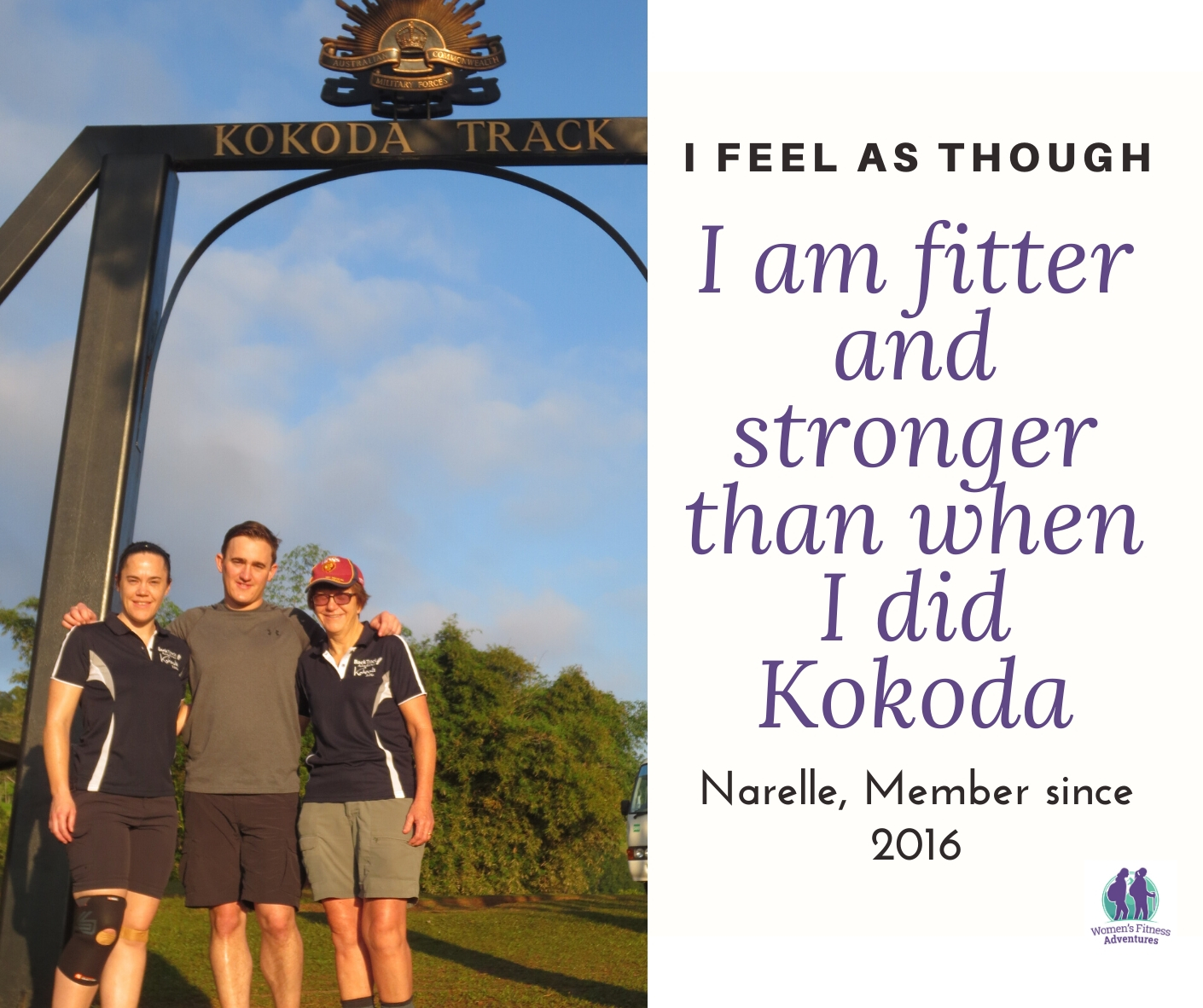Narelle completing the Kokoda Track
