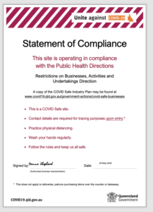 Statement of Covid Compliance