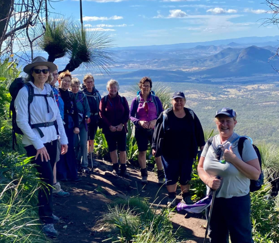 Hiking Mt Cordeaux and Bare Rock with Women's Fitness Adventures