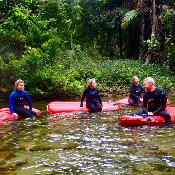 River snorkelling in North Queensland