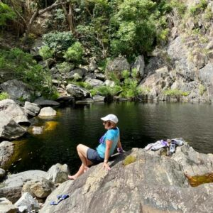 Time out on the trail on the North Queensland Tropical Fitness Adventure
