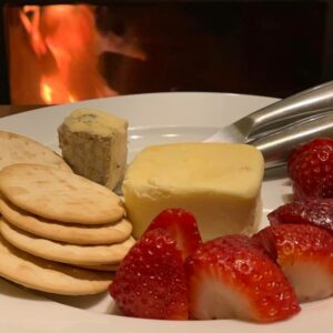 A cheese platter forms part of the celebration with Women's Fitness Adventures