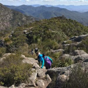 You need to be sure of foot all the way on the Mt Barney summit trail