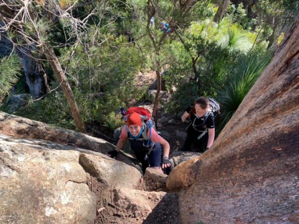 Part of the trail on the way to the top of Mt Barney with Women's Fitness Adventures