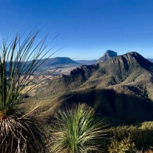 Nothing but wilderness and open spaces is the view from the top of Mt Barney
