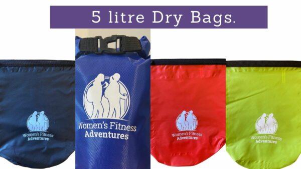The Women's Fitness Adventures 5 litre Dry bag range