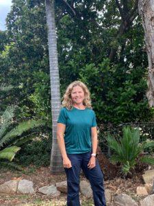 Tricia in her Ottie Merino Shirt