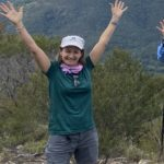 Mountain success with Yvonne in the Ottie Merino T Shirt